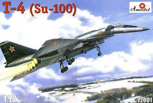 Т-4 (Су-100) ударно-разведывательный бомбардировщик-ракетоносец - 72001 Amodel 1:72