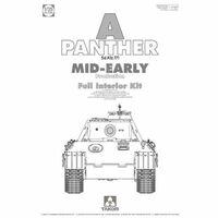«Пантера» (Panther Ausf. A mid-early) средний танк с полным интерьером. 2098 Takom 1:35