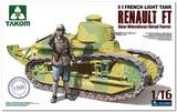 Renault FT Char Mitrailleur/Girod Turret пулеметный танк - 1002 Takom 1:16