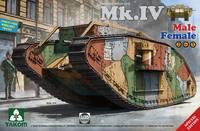Mk.IV Male/Female WWI 2 in 1 тяжелый танк - 2076 Takom 1:35