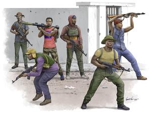 Африканские борцы за свободу - 00438 Trumpeter 1:35