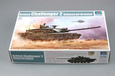 Challenger 2 (Челенджер-2) британский основной танк с доп - бронированием - 01522 Trumpeter 1:35
