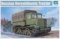 Ворошиловец (Voroshilovets Tractor) артиллерийский тягач - 01573 Trumpeter 1:35