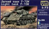 Т-70М советский легкий танк - UM-306 Unimodel 1:72