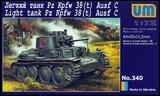 Pz.Kpfw.38(t) Ausf.C легкий танк - UM340 Unimodel 1:72