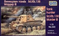 Marder III Sd.Kfz. 138 немецкий истребитель танков - UM-343 Unimodel 1:72