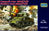M4A2(76)W танк Шерман Красной Армии (Ленд-лиз) - UM-390 Unimodel 1:72