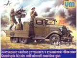 Счетверенный зенитный пулемет Максим на шасси ГАЗ-АА - UM-511 Unimodel 1:48
