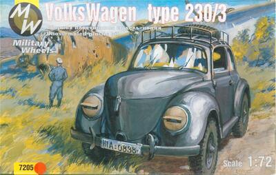 Автомобиль VW type 230/3 с газовым генератором. Масштаб 1/72