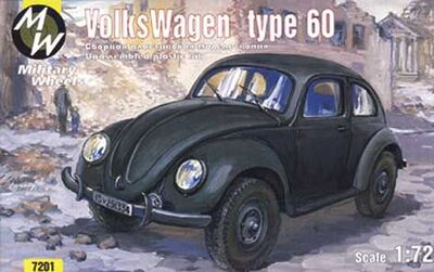 Автомобиль VW type 60. Масштаб 1/72