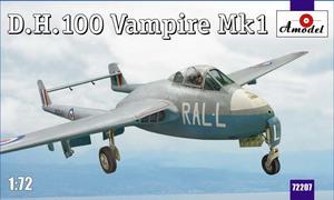 D.H.100 Vampire Mk.1 - 72207 Amodel 1:72