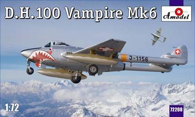 D.H.100 Vampire Mk.6 - 72208 Amodel 1:72