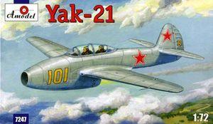 Як-21 - 7247 Amodel 1:72
