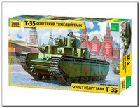 Т-35 многобашенный танк - 3667 Звезда 1:35