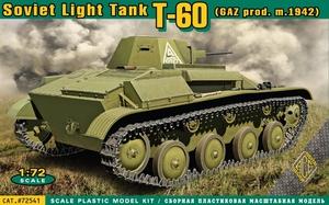 Т-60 легкий танк пр-ва ГАЗ обр. 1942 - 72541 ACE 1:72