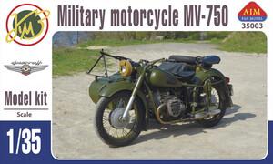 МВ-750 мотоцикл с коляской - A-35003 AIM 1:35