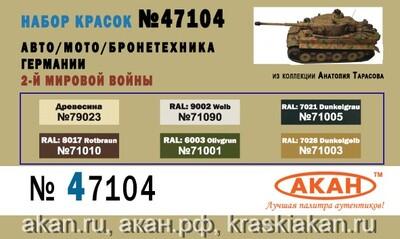 Авто-Мото-Бронетехника Германии - 47104 АКАН 6х10мл