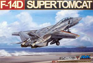 F-14D Supertomcat палубный истребитель - 88007 AMK 1:72