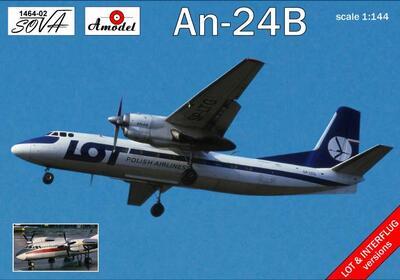 Ан-24В - 1464-01 Amodel 1:144
