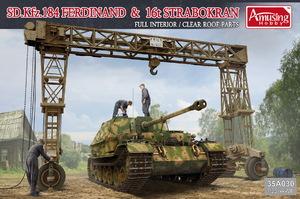 Sd.Kfz.184 Ferdinand (Фердинанд) & 16t Strabokran - 35A030 Amusing Hobby 1:35