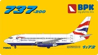 737-200 British Airways. 7203 Big Plane Kit 1:72