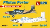 AU-23 and PC-6. 14403 Big Plane Kit 1:144