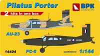 AU-23 and PC-6. 14404 Big Plane Kit 1:144