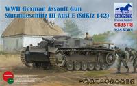 Sturmgeschutz III Ausf.E Sd.Kfz 142 (Штуг-3) штурмовое орудие - CB35118 Bronco 1:35