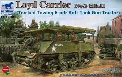 Loyd Carrier No.2 Mk.II w/6-pdr Gun - CB35188 Bronco 1:35