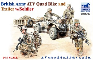 British ATV Quad Bike and Trailer - CB35207 Bronco 1:35