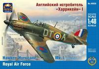 ARK48026 Сборная модель «Харрикейн» MkI истребитель Великобритания. Масштаб 1/48