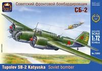 ARK72002 Сборная модель фронтового бомбардировщика СБ-2 (АНТ-40). Масштаб 1/72