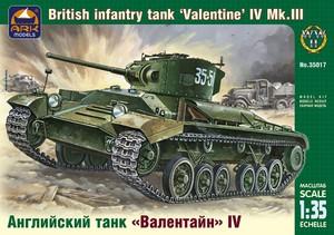 Английский танк Валентайн IV - 35017 ARK-Models 1:35
