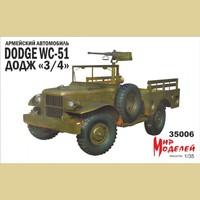 Додж 3/4 армейский автомобиль 4х4 - 35006 Мир Моделей 1:35