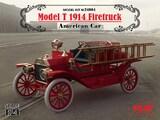 Model T 1914 Firetruck Американский пожарный автомобиль - 24004 ICM 1:24
