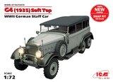 G4 (1935) с тентом представительский автомобиль (сборка без клея) - 72472 ICM 1:72