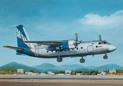 Ан-24РВ Пассажирский самолет Аэрофлот-Норд - 14462 Восточный Экспресс 1:144