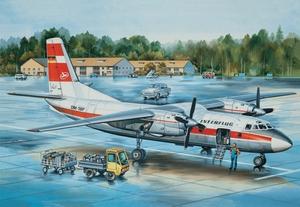 Ан-24Б Пассажирский Интерфлюг (An-24B Interflug) - 14460 Восточный Экспресс 1:144