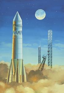 Спутник Ракета-носитель - 14450 Восточный Экспресс 1:144