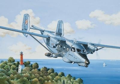 PZL M28B 1RMbis Bryza Противолодочный самолет - 14446 Восточный Экспресс 1:144
