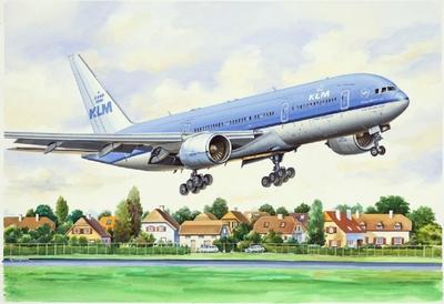 Б-777-200 Авиалайнер KLM (B772 KLM) - 14442 Восточный Экспресс 1:144