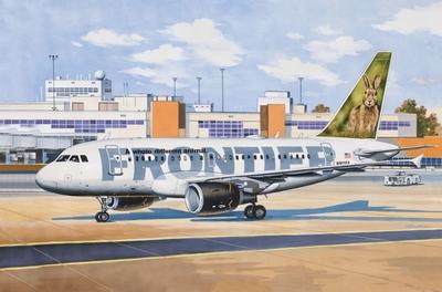 A-318 Авиалайнер Фронтир (A318 Frontier Airlines) - 14434 Восточный Экспресс 1:144