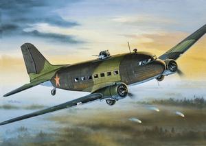 Ли-2 Военно-транспортный самолет - 14430 Восточный Экспресс 1:144