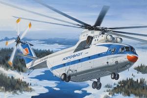 Ми-26 Тяжелый транспортный вертолет АК Аэрофлот/Ютэйр - 14503 Восточный Экспресс 1:144