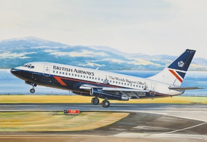 Б-737-200 Авиалайнер АК Бритиш Эйруэйз (B732 British Airways) - 14469 Восточный Экспресс 1:144