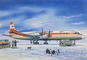 Ил-18Д Пассажирский самолет Аэрофлот - 14467 Восточный Экспресс 1:144
