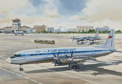 Ил-18В Пассажирский самолет Аэрофлот - 14466 Восточный Экспресс 1:144