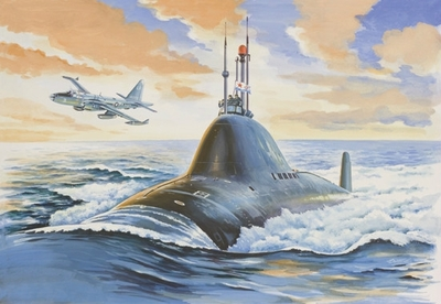 Подводная лодка проект 705 - 40006 Восточный Экспресс 1:400