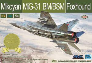 МиГ-31БМ/БСМ (Foxhound) перехватчик  - K48001 AMK/SIO Model 1:48