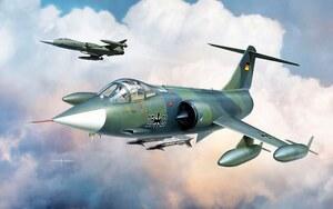 F-104G Luftwaffe Starfighter (Старфайтер) истребитель-перехватчик - K48083 Kinetic Model 1:48